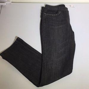 WHBM dark grey slim leg jean Sz 4S NWT